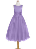 Lilac Junior Bridesmaid Dresses,Long Junior Bridesmaid Dress,JB00007