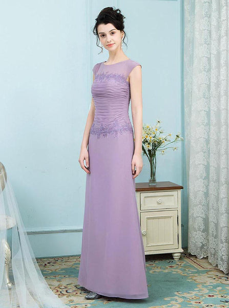 Lilac Mother of the Bride Dresses,Full Figure Mother Dress,Ruched Mother of the Bride Dress,MD00004