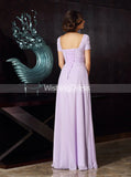 Lilac Mother of the Bride Dresses,Mother Dress with Sleeves,Long Mother Dress,MD00033