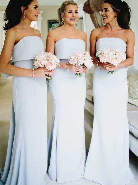 Mermaid Bridesmaid Dress,Bridesmaid Dress with Bowknot,Bridesmaid Dress with Train,BD00114