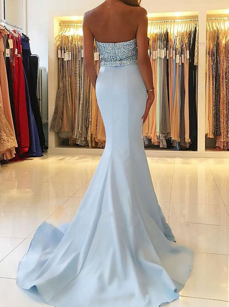Mermaid Prom Dress,Fitted Prom Dresses,Beaded Prom Dress,PD00307