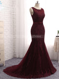 Mermaid Prom Dresses,Formal Evening Dress with Train,Fitted Evening Dress,PD00363
