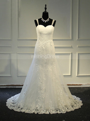 products/mermaid-wedding-dress-with-straps-tulle-white-bridal-dress-wd00385-4.jpg