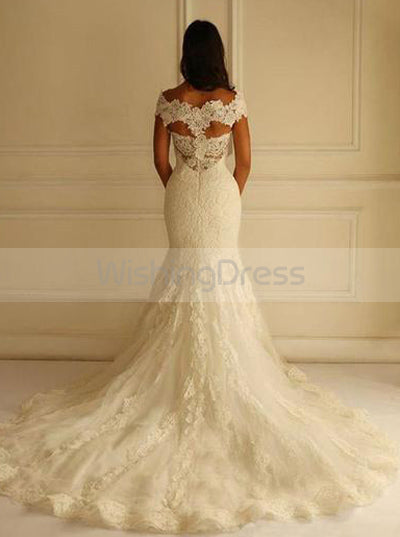 Mermaid Wedding Dresses,Lace Wedding Dress,Off the Shoulder Bridal Dress,WD00125