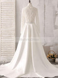 Mermaid Wedding Dresses,Wedding Dress with Long Sleeves,Romantic Wedding Dress,WD00249