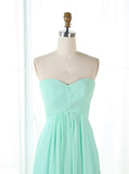 Mint Green Bridesmaid Dress,Sweetheart Bridesmaid Dress,Long Chiffon Bridesmaid Dress,BD00167
