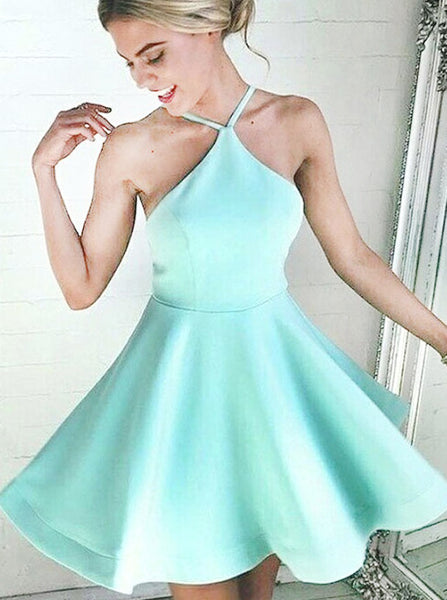 Mint Green Cocktail Dresses,Sexy Homecoming Dress,Short Homecoming Dress,CD00057