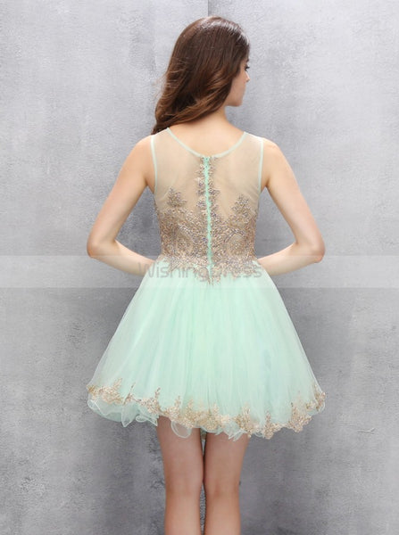 Mint Homecoming Dresses,Short Homecoming Dress,Freshman Homecoming Dress,HC00066
