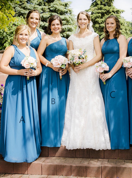 Mismatched Bridesmaid Dress,Chiffon Bridesmaid Dress,Long Bridesmaid Dress,BD00184