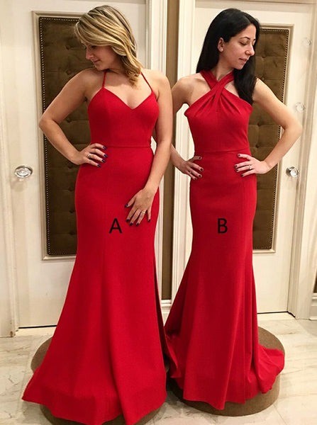 Mismatched Bridesmaid Dress,Red Bridesmaid Dress,Long Bridesmaid Dress,BD00171
