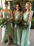 Mismatched Bridesmaid Dress,Sage Bridesmaid Dress,Chiffon Bridesmaid Dress,BD00111