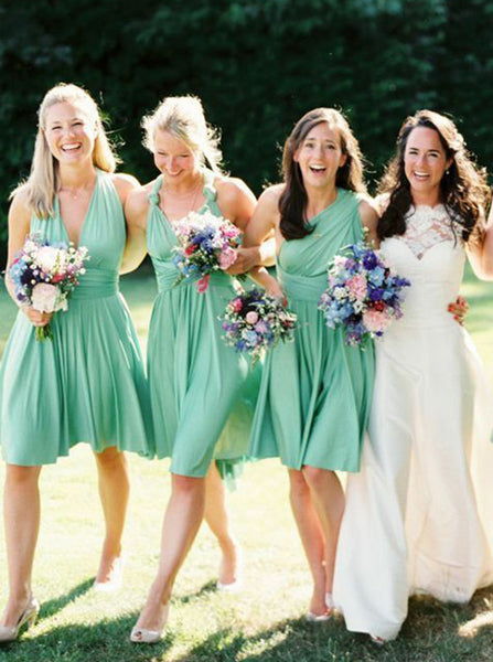 c07730aff670d Mismatched Bridesmaid Dress,Short Bridesmaid Dress,Mint Green Bridesmaid  Dress,BD00064