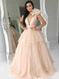 Modern Prom Dresses,Ruffled Tulle Pageant Dress,PD00404