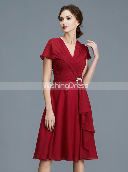 Modest Mother of the Bride Dresses,Knee Length Mother Dress,MD00032