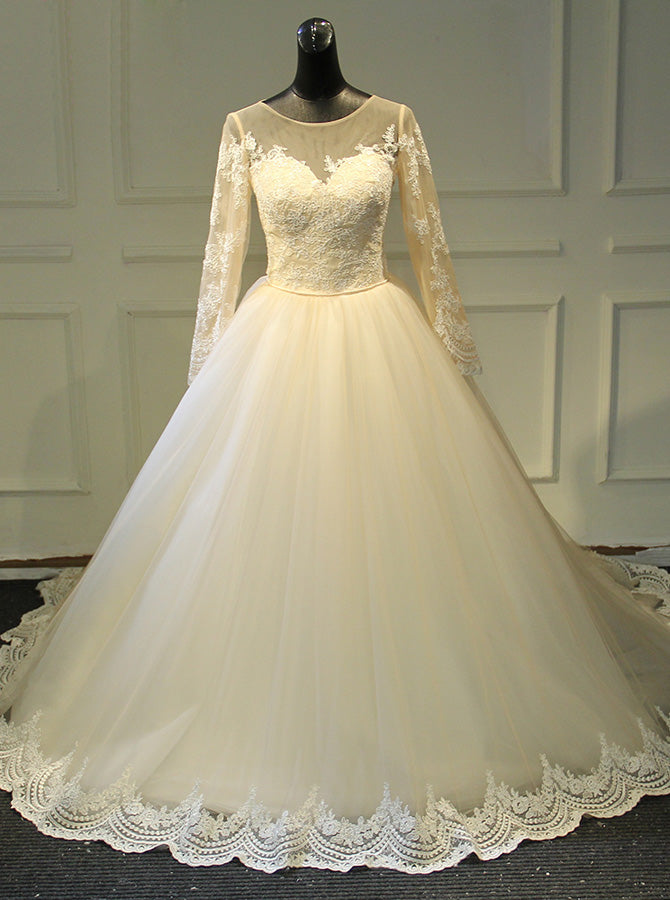 Modest Wedding Gown With Sleeves Classic Wedding Gown Wd00392