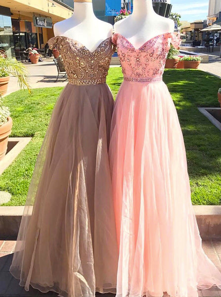 Off the Shoulder Prom Dresses,Elegant Prom Dress,Long Prom Dress,PD00350