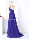 One Shoulder Bridesmaid Dresses,Chiffon Pleated Bridesmaid Dress,BD00276