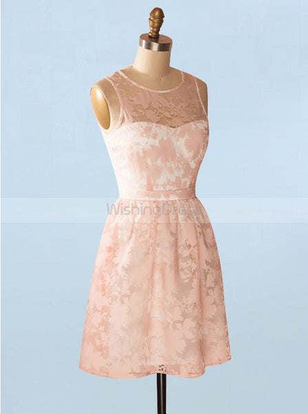 Peach Homecoming Dresses,Lace Homecoming Dress,Modest Homecoming Dress,HC00070