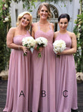 Mismatched Bridesmaid Dress,Chiffon Bridesmaid Dress,Long Bridesmaid Dress,BD00021