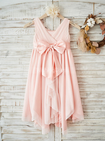products/pink-flower-girl-dress-junior-empire-bridesmaid-dress-girl-party-dress-fd00106-3.jpg