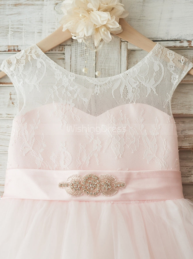 8ad403aac2c Pink Flower Girl Dresses