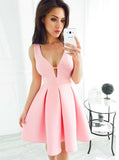 Pink Homecoming Dresses,Simple Homecoming Dress,Homecoming Dress for Teens,HC00159