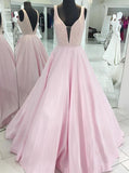 Pink Prom Dresses,A-line Prom Dress,Backless Prom Dress,PD00347