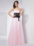 Pink Prom Dresses,Simple Prom Dress,Strapless Prom Dress,Tulle Prom Dress,PD00332