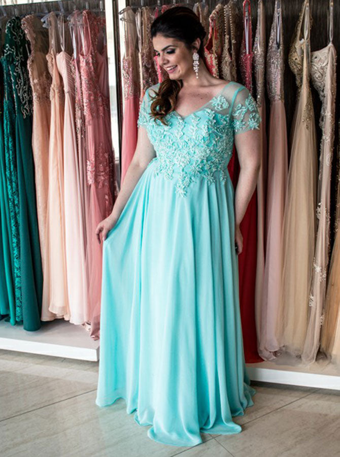 Plus Size Prom Dress with Sleeves,Plus Size Prom Dress for Teens,Long Plus  Size Dress,PD00252