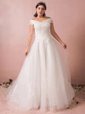 Plus Size Wedding Dresses,Off the Shoulder Plus Size Wedding Dress,WD00319