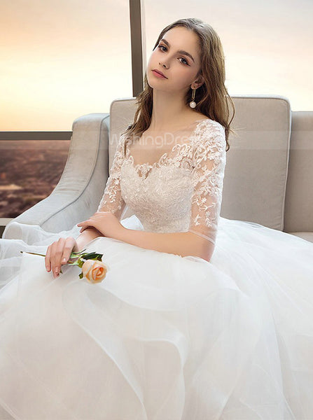 Princess Ball Gown Wedding Dresses,Ruffled Bridal Gown,WD00354
