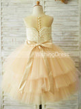 Princess Flower Girl Dresses,Ball Gown Flower Girl Dress,Tulle Ruffled Flower Girl Dress,FD00036