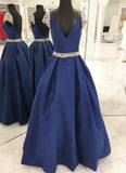 Princess Prom Dress,Prom Dress with Cap Sleeves,Satin Prom Dress,PD00303