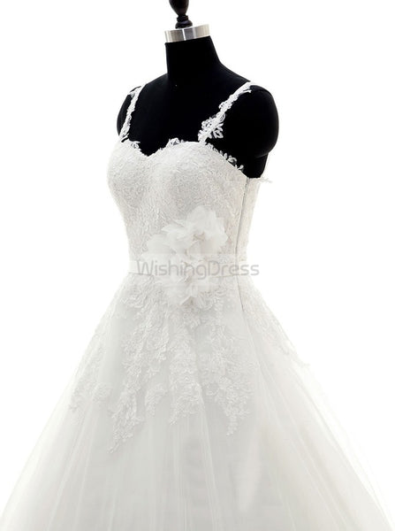 Princess Wedding Dresses,Lace Bridal Dress,Romantic Wedding Dress,WD00223