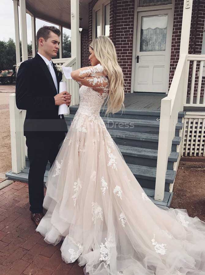 d79ee00a4fb Princess Wedding Dresses with Sleeves