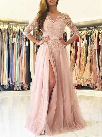 products/prom-dress-with-sleeves-tulle-prom-dress-long-prom-dress-with-slit-pd00317-1.jpg