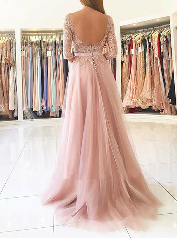 products/prom-dress-with-sleeves-tulle-prom-dress-long-prom-dress-with-slit-pd00317.jpg