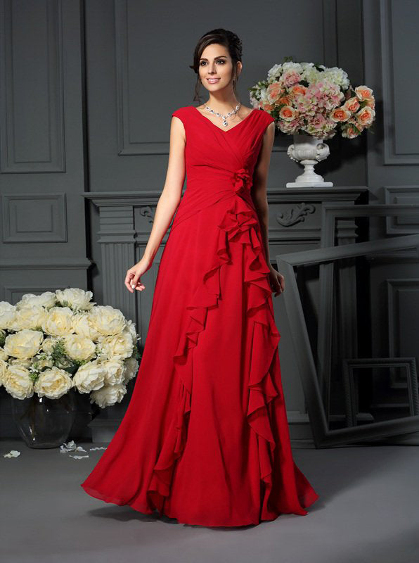 66c0f029c3fb Red Mother of the Bride Dresses,Chiffon Mother Dress,Mother Dress with  Ruffles,