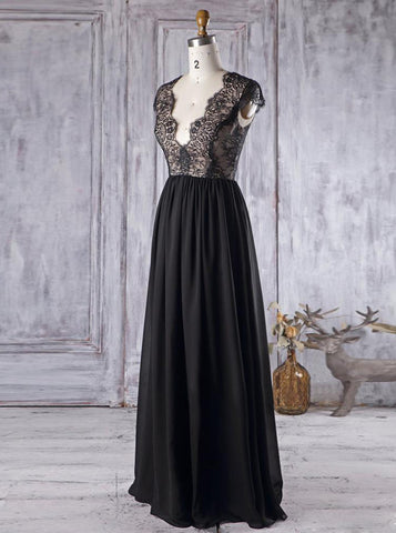 products/romantic-bridesmaid-dress-with-cap-sleeves-black-bridesmaid-dress-bd00374-4.jpg