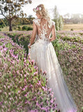 Romantic Wedding Dresses,Tulle Wedding Dress Illusion,WD00400