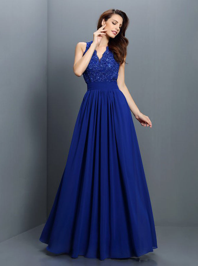 Royal Blue Bridesmaid DressesBackless Bridesmaid Dress