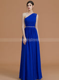 Royal Blue Bridesmaid Dresses,One Shoulder Bridesmaid Dress,Elegant Bridesmaid Dress,BD00252