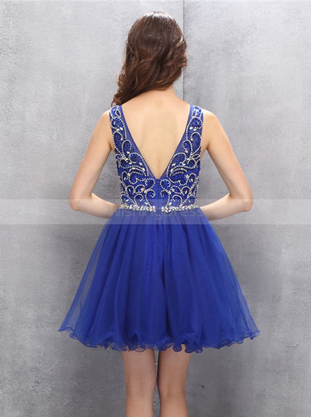 Royal Blue Homecoming Dresses,Tulle Homecoming Dress,Fashion Homecoming Dress,HC00118