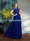 Royal Blue Mother of the Bride Dresses,Mother Dress with Sleeves,Long Mother Dress,MD00045