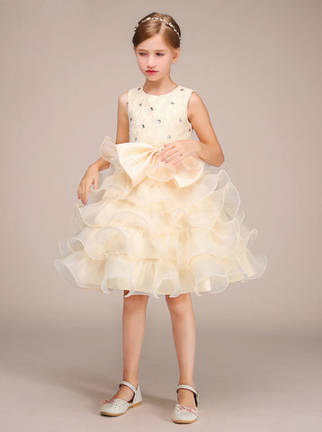 edaed774f Buy white, ivory and purple junior bridesmaid dresses with sleeves ...