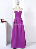 Satin Bridesmaid Dresses,Full Length Bridesmaid Dress,A-line Bridesmaid Dress,BD00281