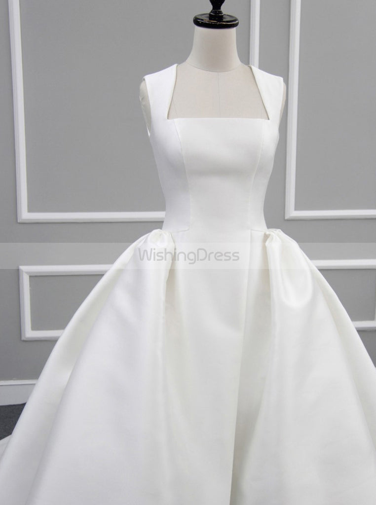Satin Wedding Dresses Modest Wedding Dress White Wedding Dress