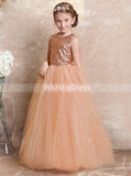 Sequined Junior Bridesmaid Dresses,Long Princess Junior Bridesmaid Dress,JB00009