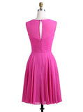 Short Bridesmaid Dresses,Fuchsia Bridesmaid Dress,Simple Bridesmaid Dress,BD00215
