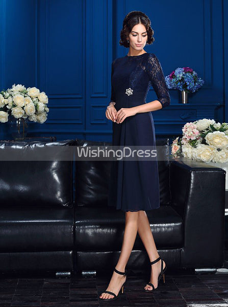 Short Mother of the Bride Dresses,Mother of the Bride Dress with Sleeves,MD00042